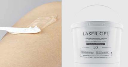 Gel laser pour l'appareil d'épilation définitive