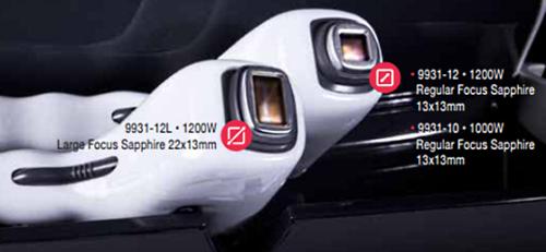Appareil épilation laser - différentes têtes